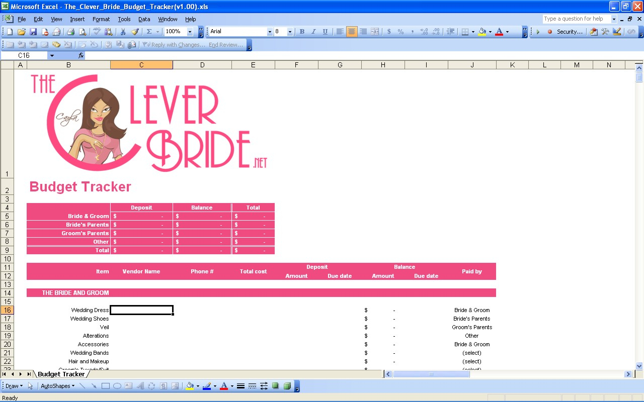 Useful Excel Spreadsheets Intended For 15 Useful Wedding