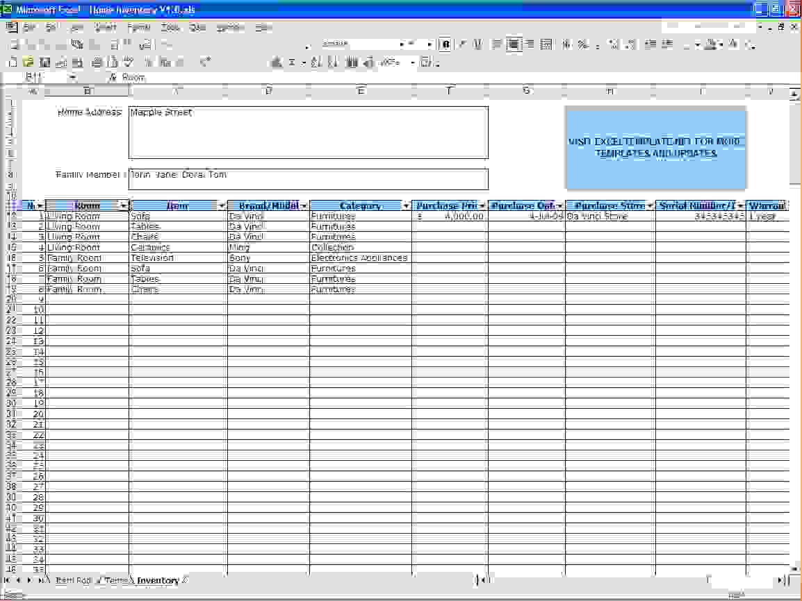 Using Documents Spreadsheets For Inventory Tracking Spreadsheet Downloa Using