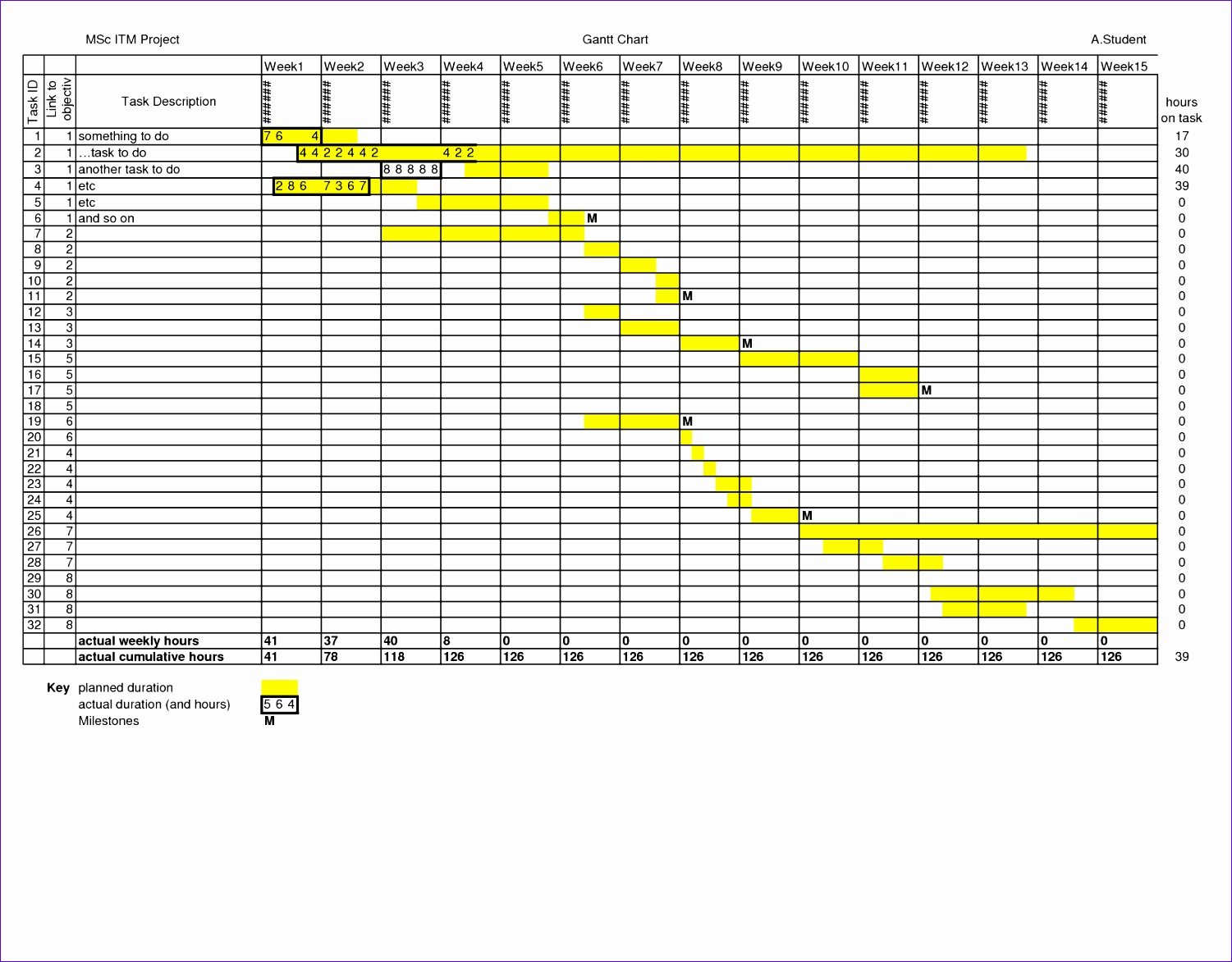 Vacation Schedule Spreadsheet For Business Planner