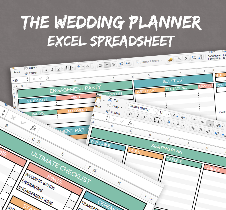 Wedding Planning Excel Spreadsheet Intended For Wedding Planner Spreadsheet Excel Wedding
