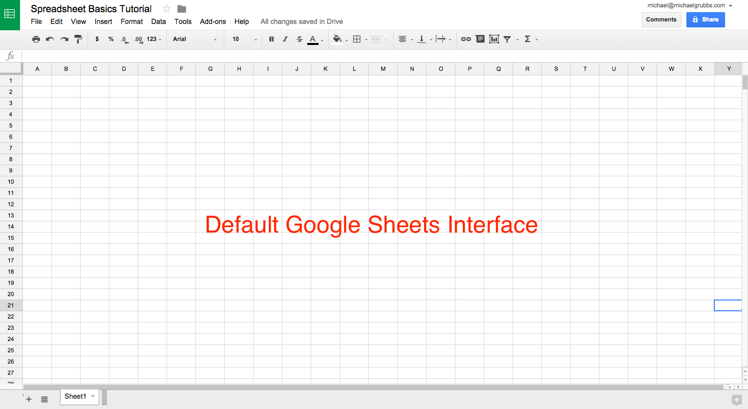 What Does A Spreadsheet Look Like Inside Sheets 101