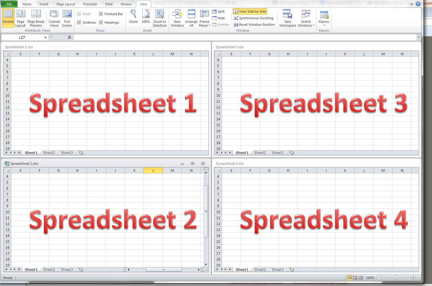 Working With Spreadsheets In Excel Spreadshee