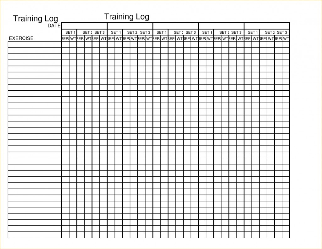 Workout Spreadsheet Intended For 012 Template Ideas