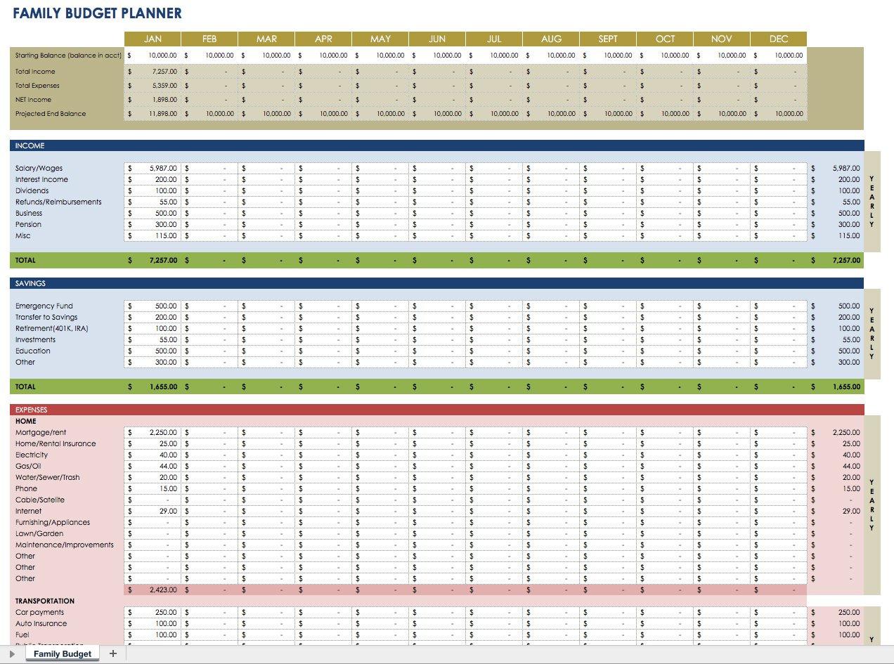 Estate Planning Worksheet Excel