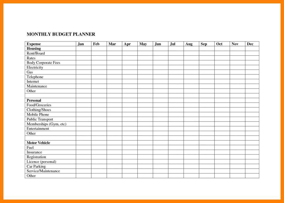 021 Free Printable Monthly Budget Worksheets Online