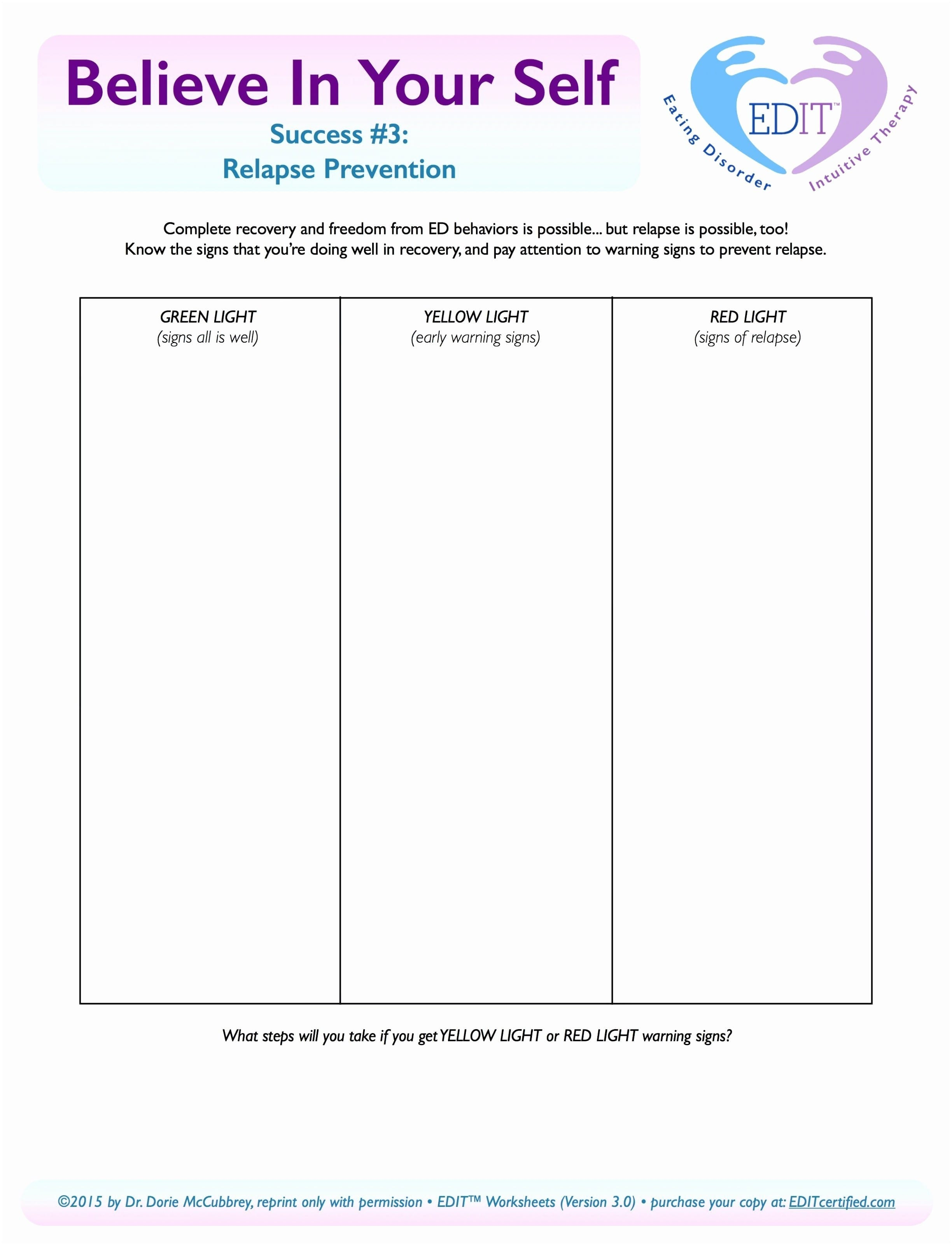 022 Substance Abuse Group Worksheets Elegant Relapse