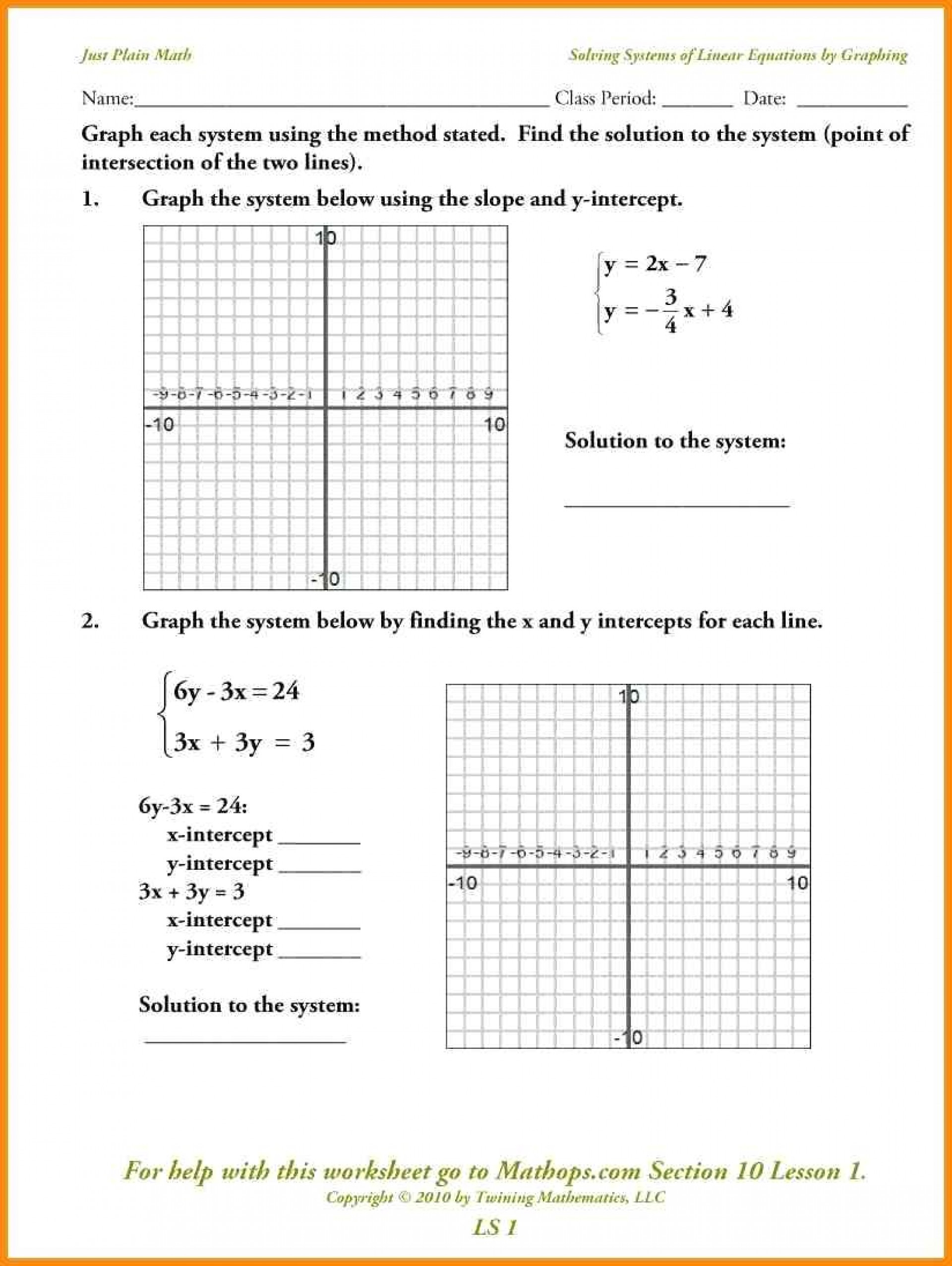 045 Linear Equations Word Problems Printable Worksheet