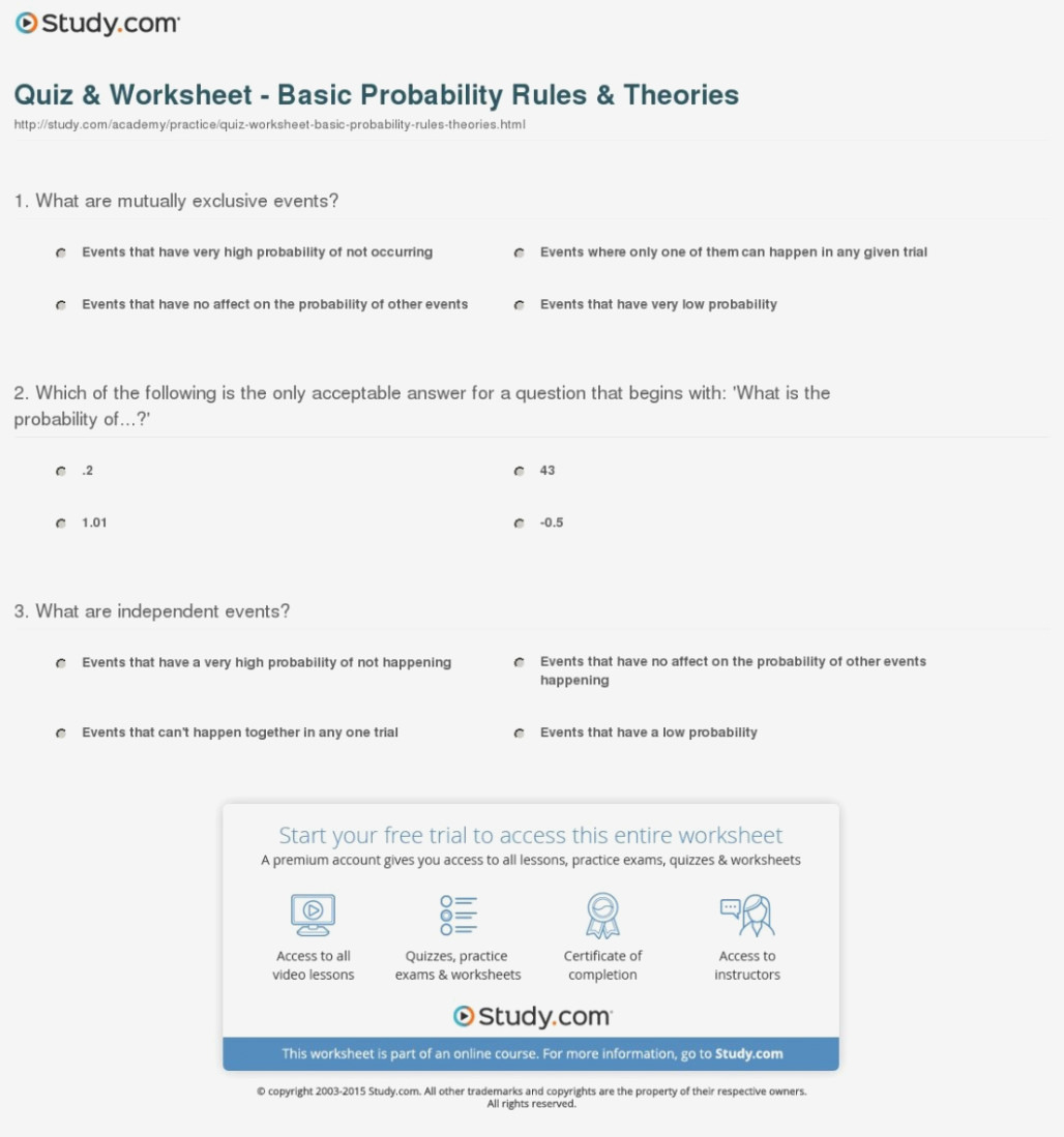 Probability With A Deck Of Cards Worksheet Answers Db