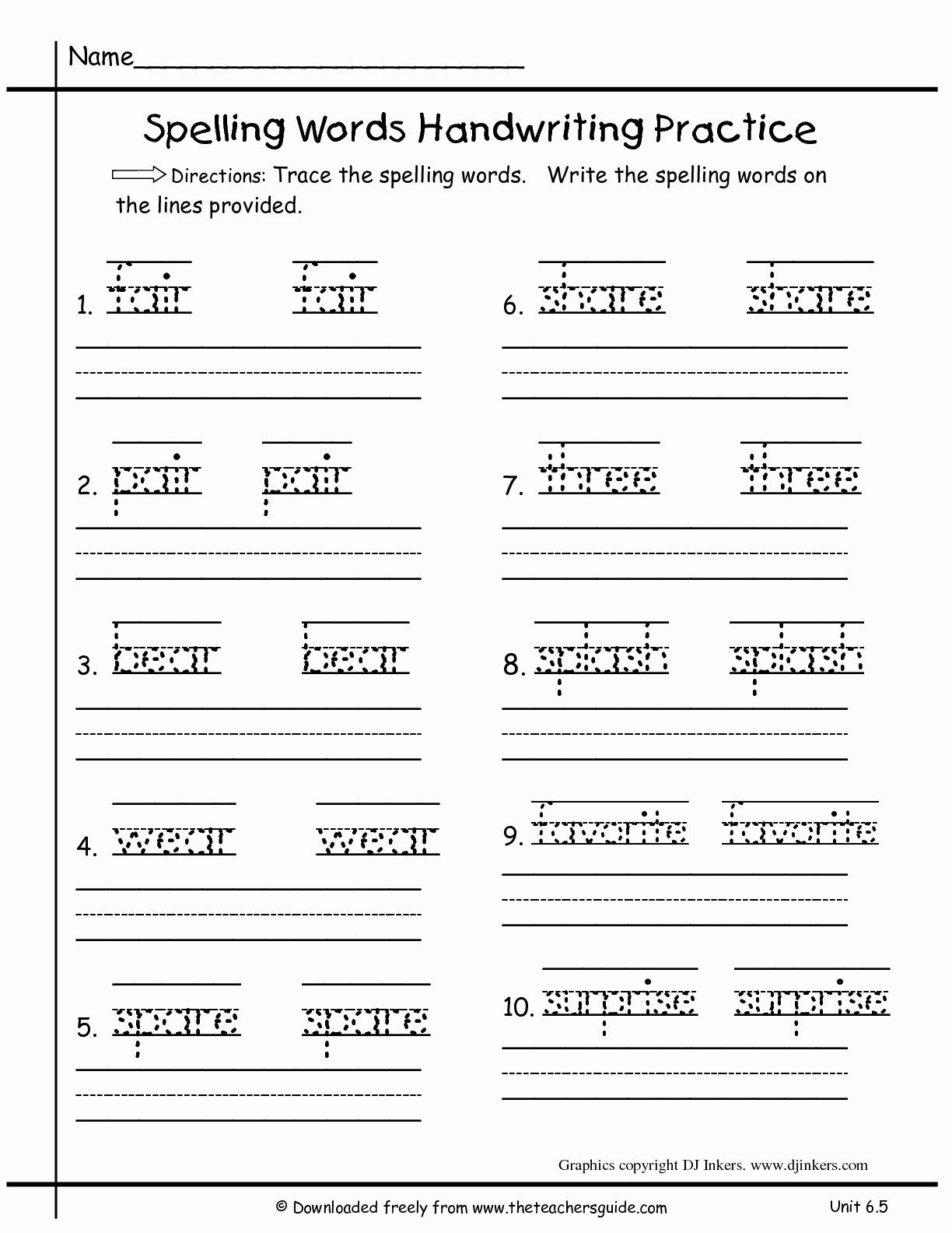 1st Grade Writing Worksheets To Download Free Math
