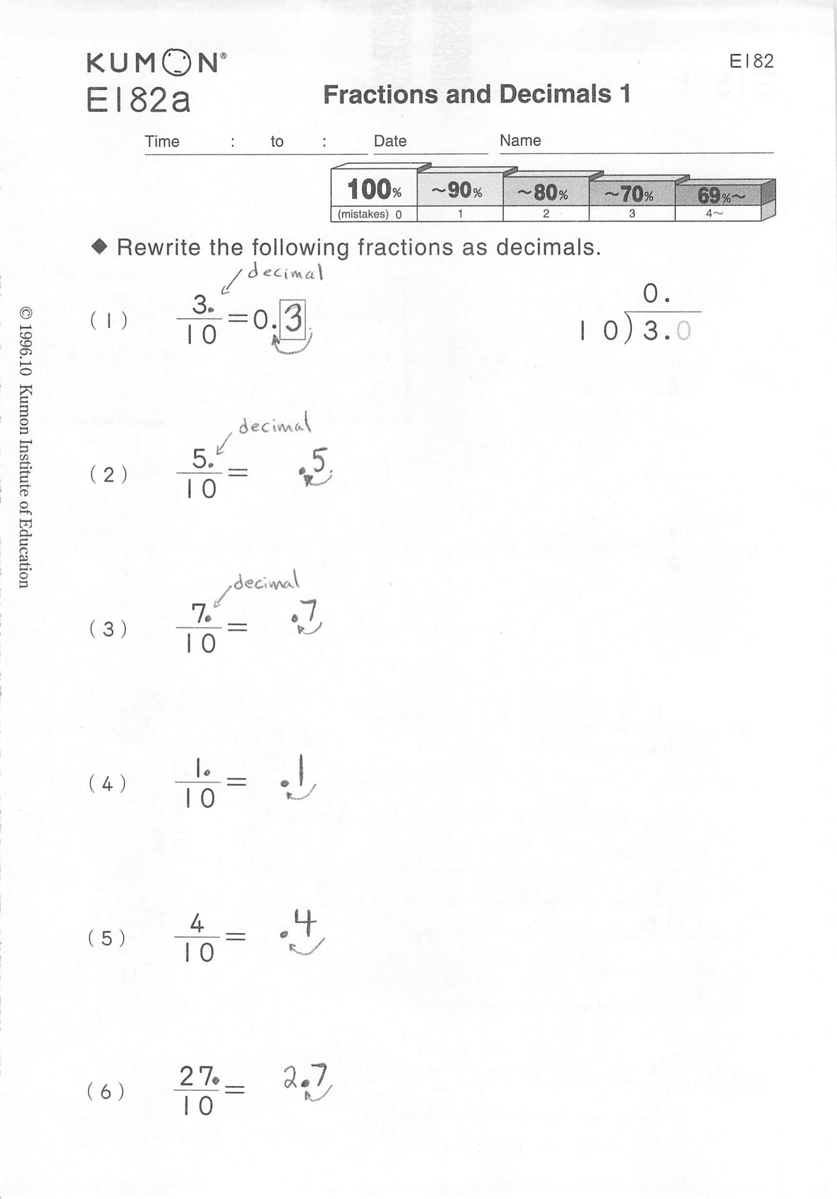 78 Free Tutorial Info Kumon Level D Math Worksheets
