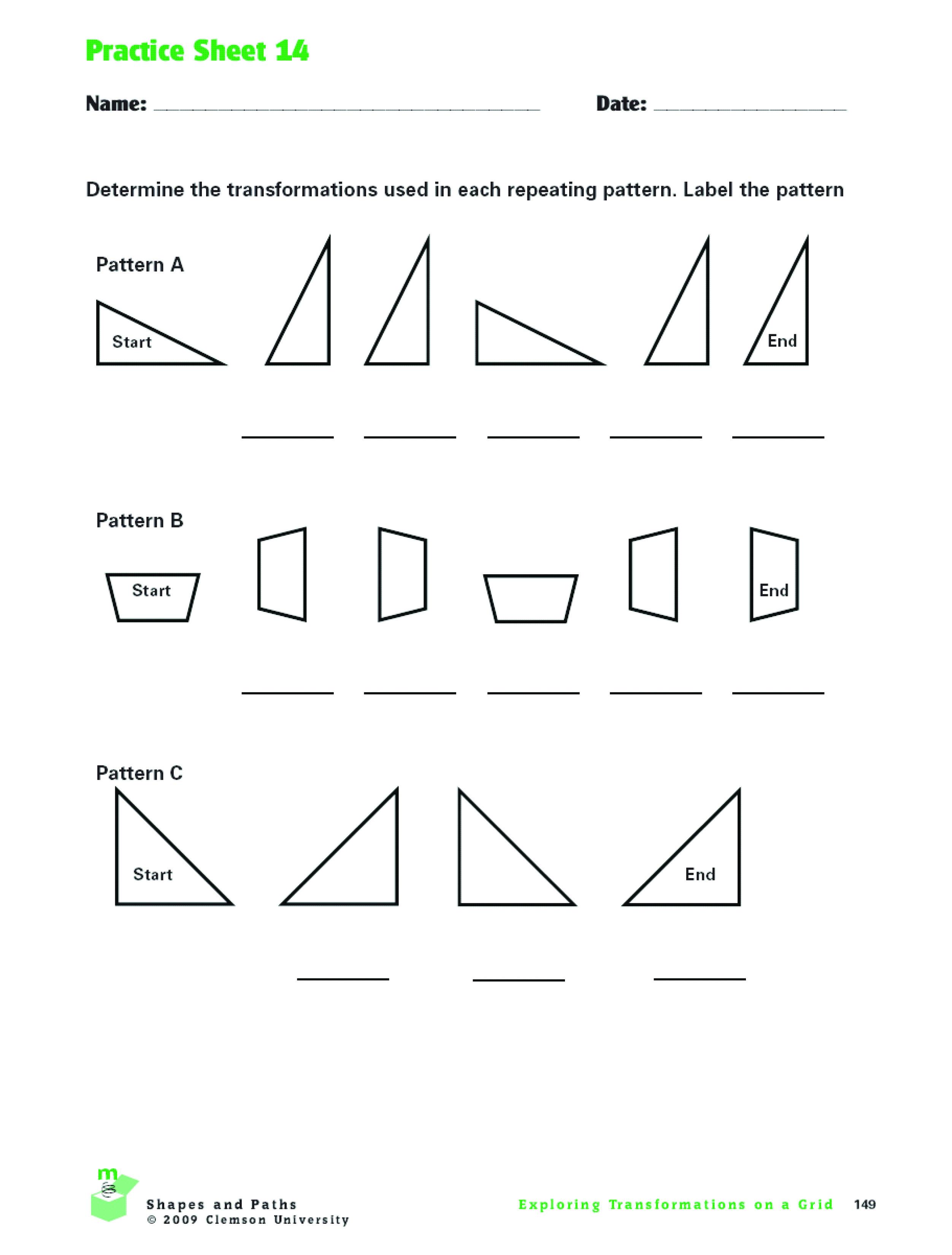 Math Worksheet Substance