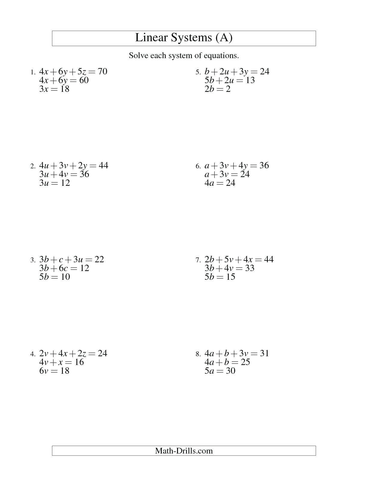 97 Linear Inequalities Worksheet With Answers