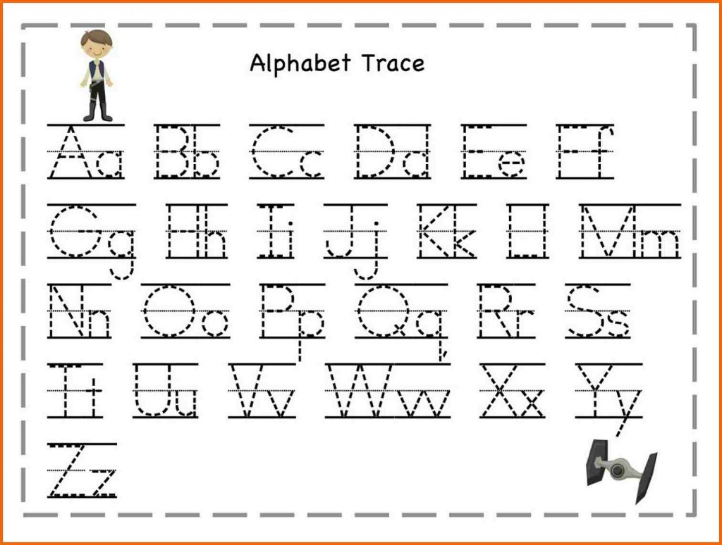Abc Tracing Letters Worksheets Printable Coloring Page For