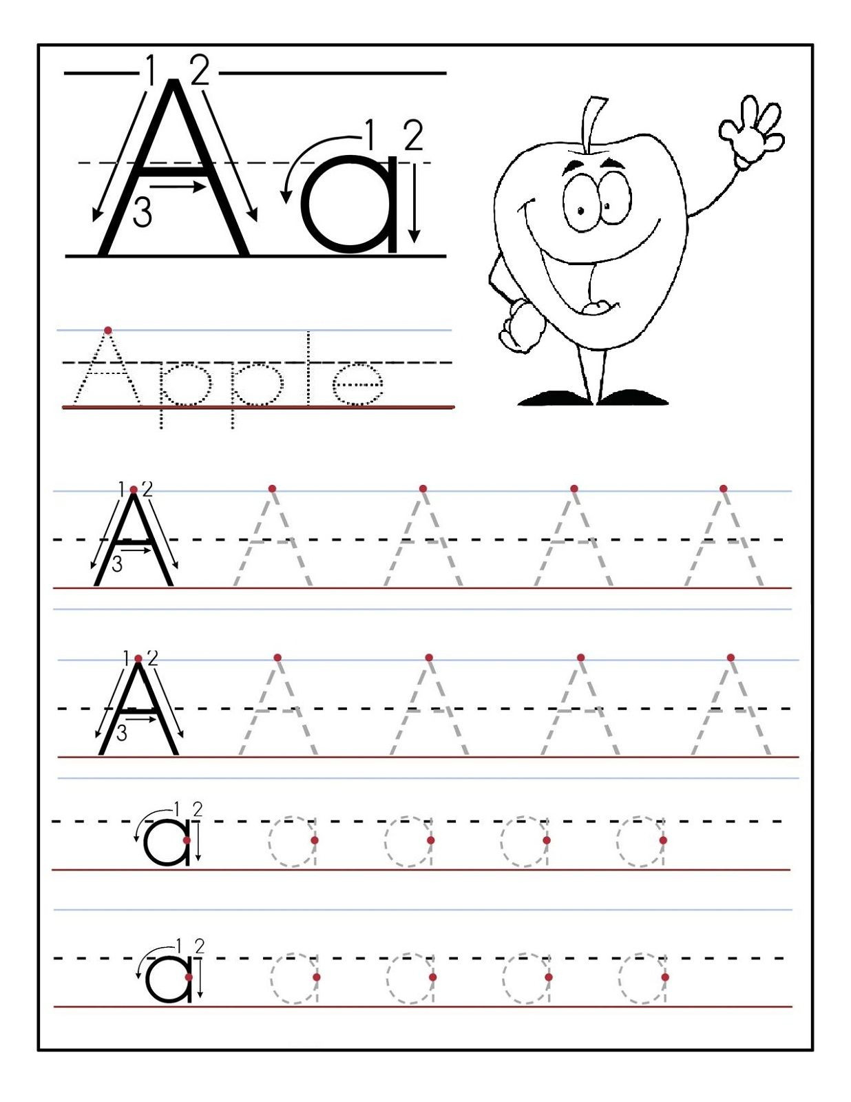 Abc Worksheets For Preschool For Print Math Worksheet For