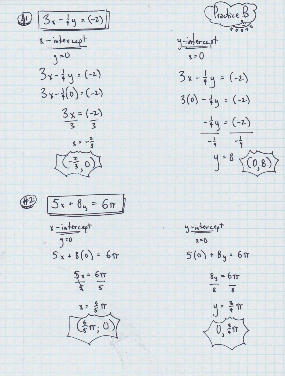 Slope Intercept Form Worksheet With Answers