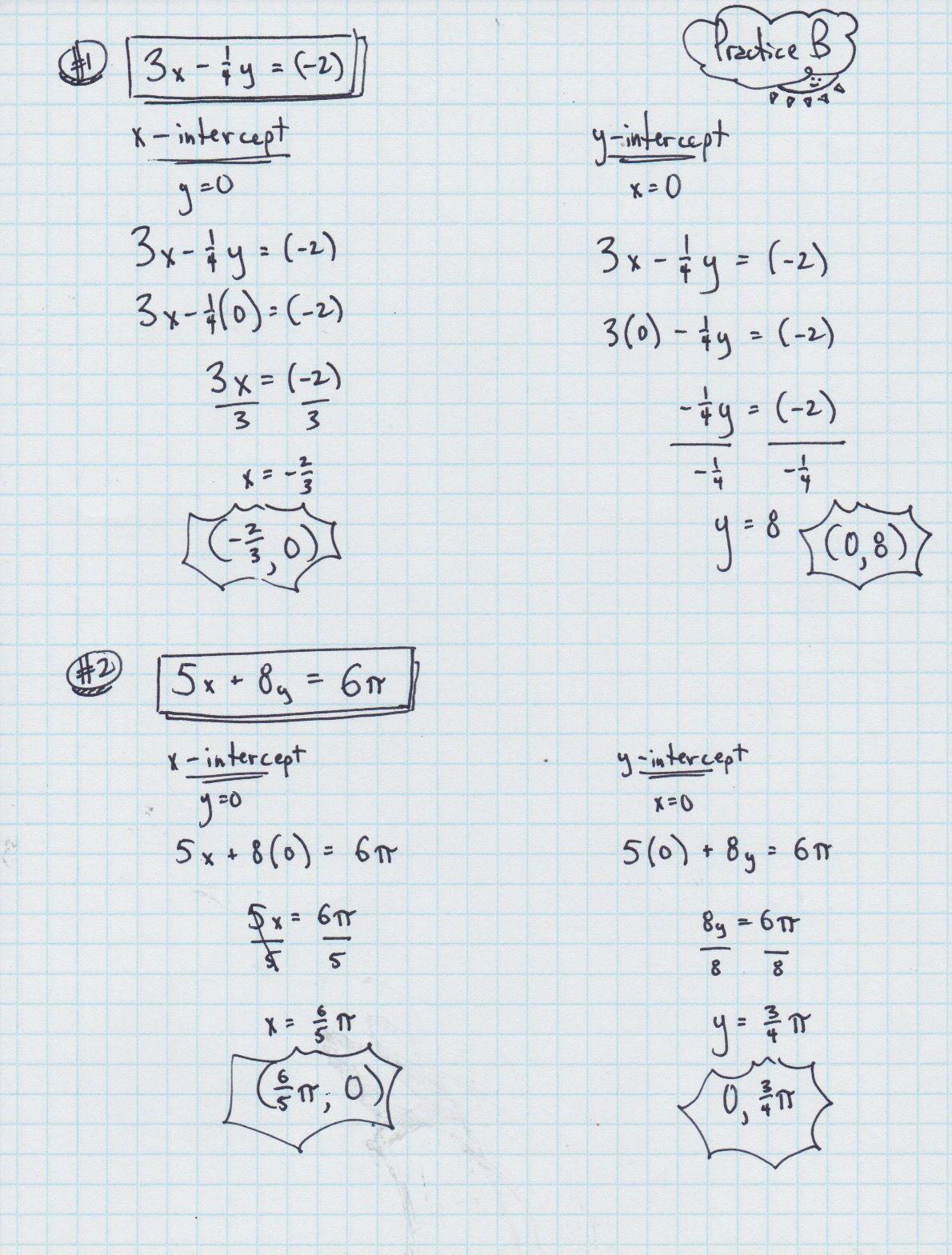 Algebra 1 Slope Intercept Form Worksheet 1 Answer Key
