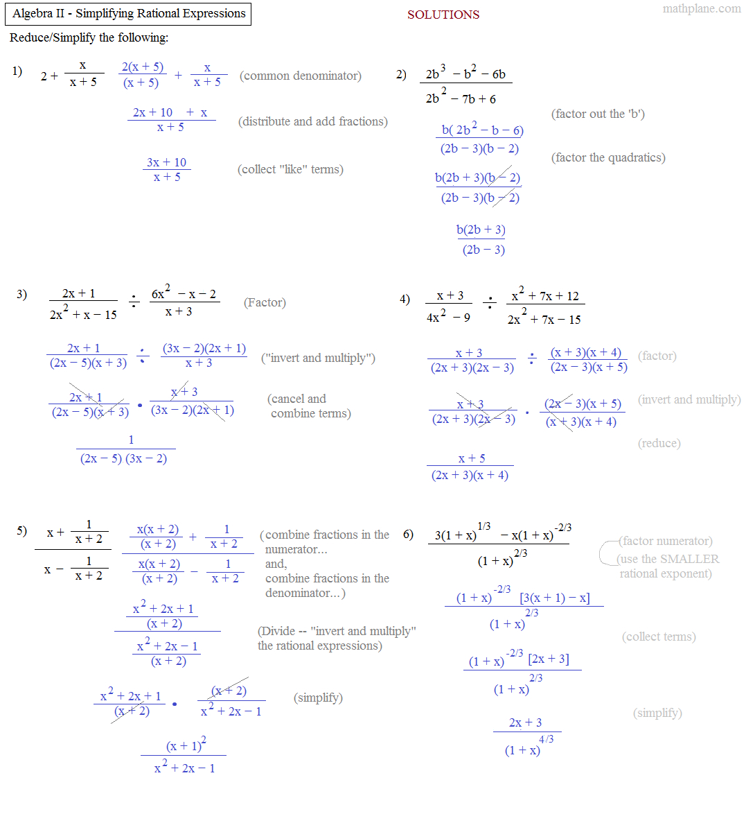 Algebra 2 Worksheets Factoring Polynomials Homeshealth