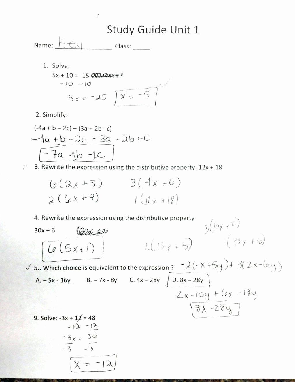 Algebra Distributive Terms No Exponen Distributive