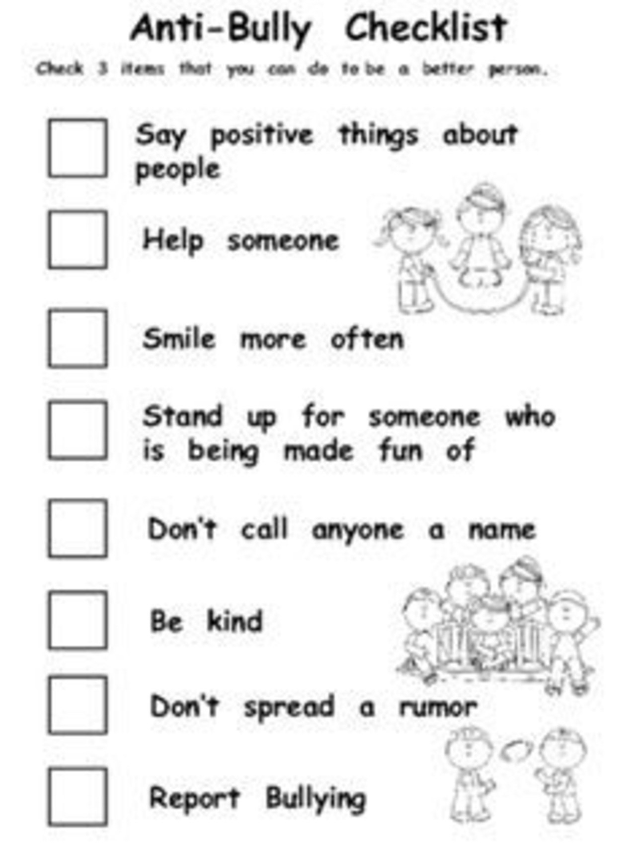 All 29 Bullying Worksheets Hd Llpapers