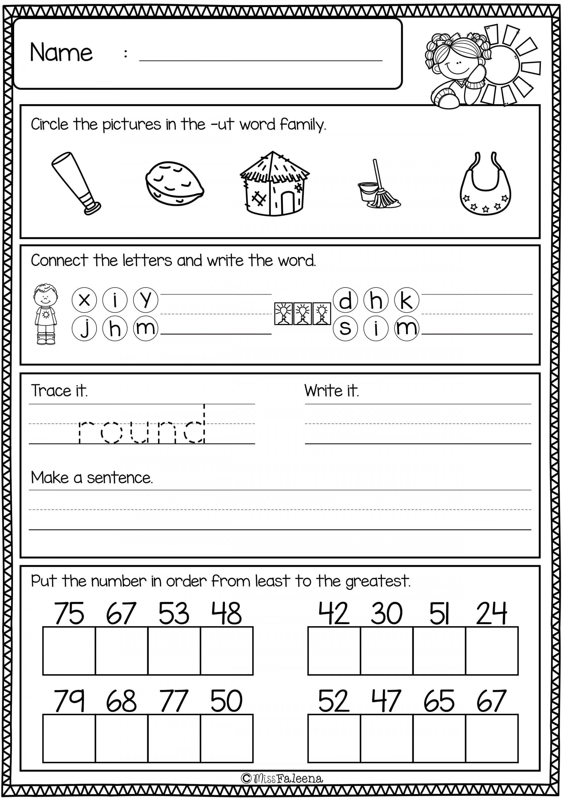 First Grade Word Work Worksheets
