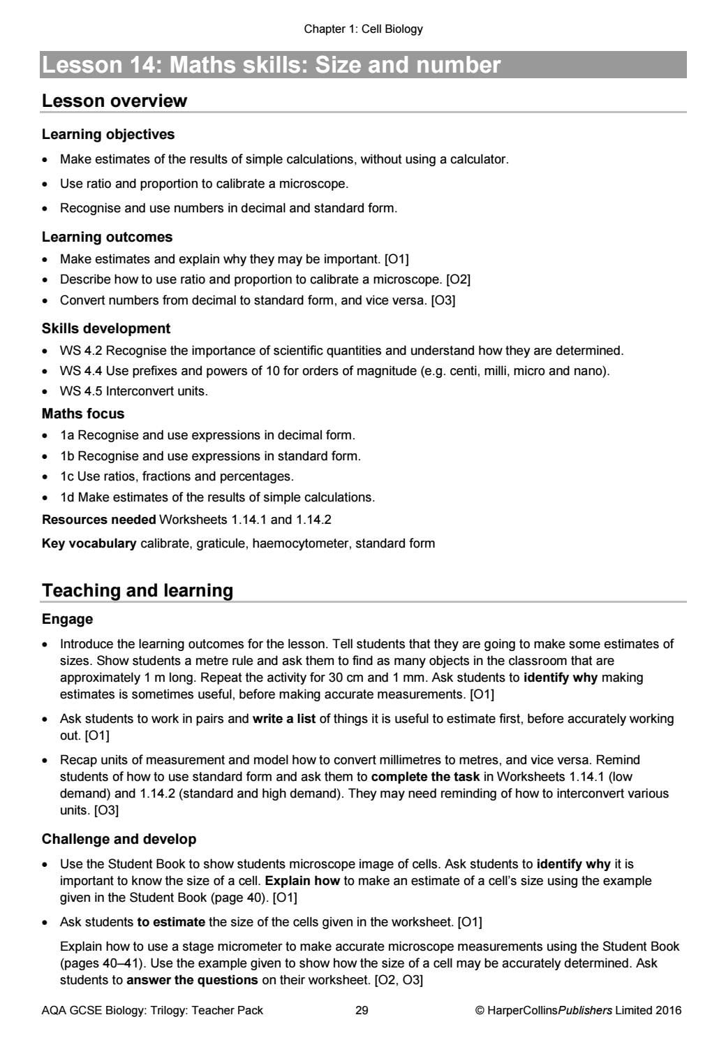 Aqa Se 91 Combined Science Trilogy Teacher Pack