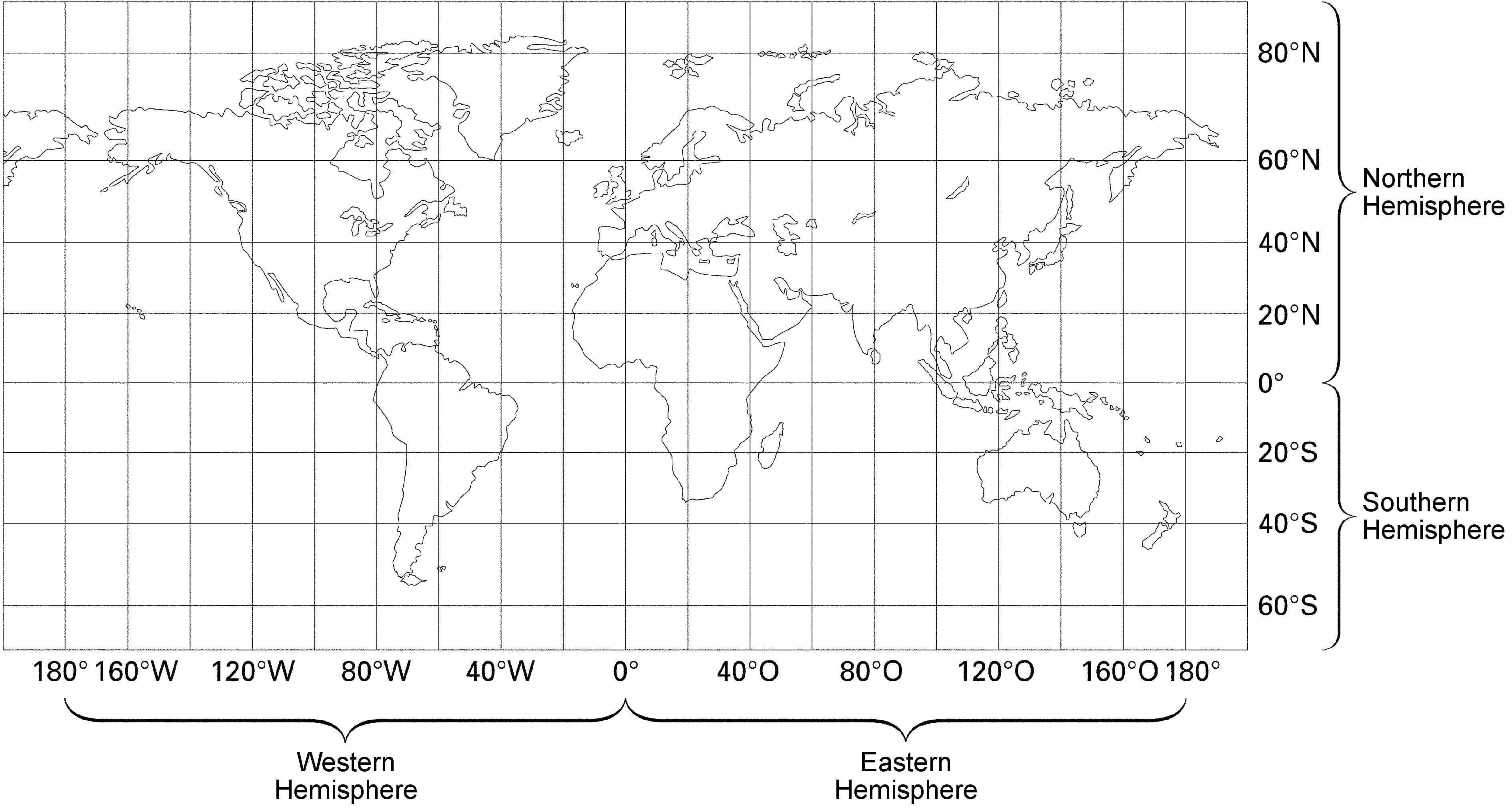 Blank World Map Worksheet With Latitude And Longitude