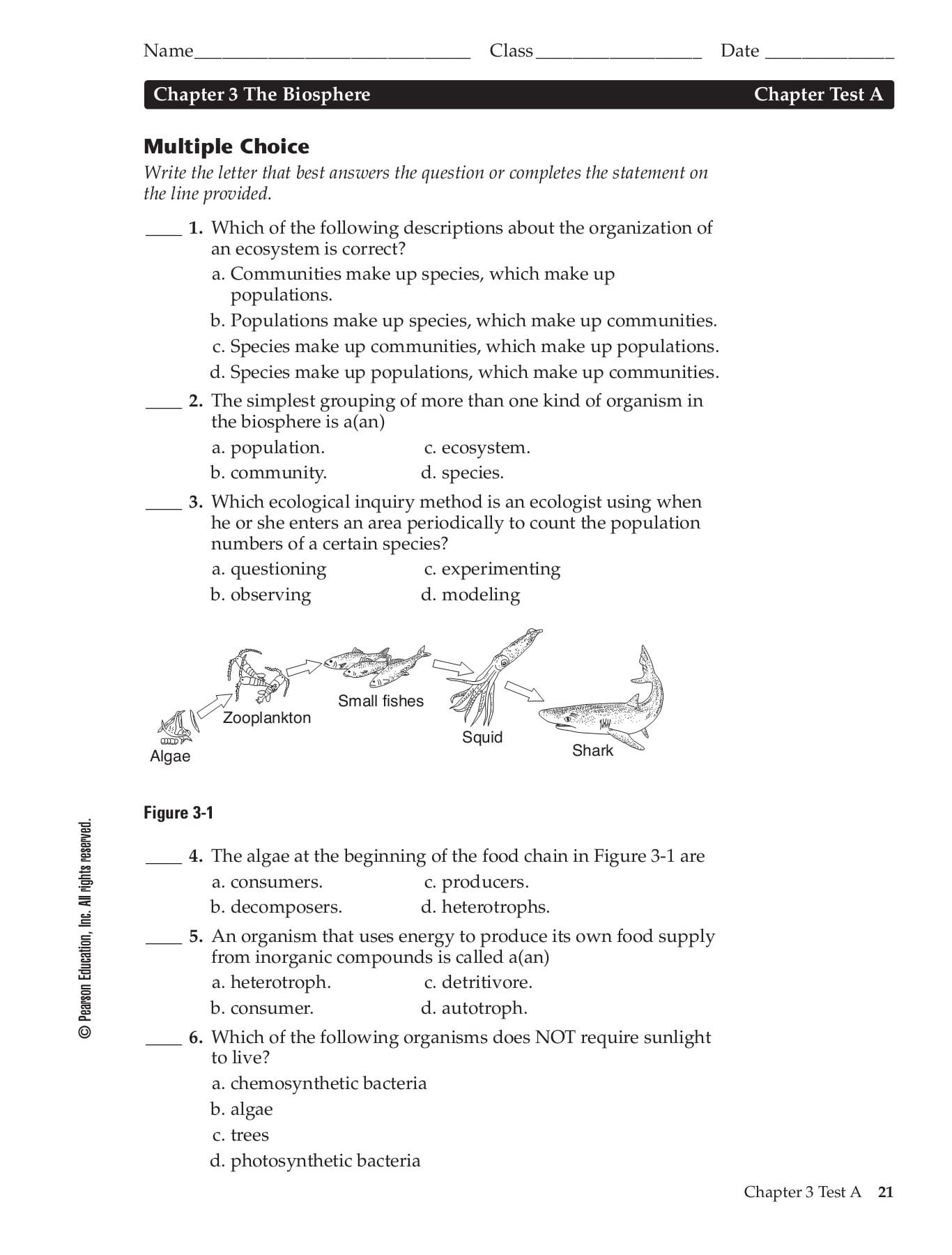 Chapter 6 Humans In The Biosphere Worksheet Answers Db