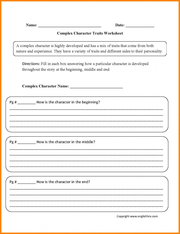 Character Development Worksheet As 2nd Grade Reading