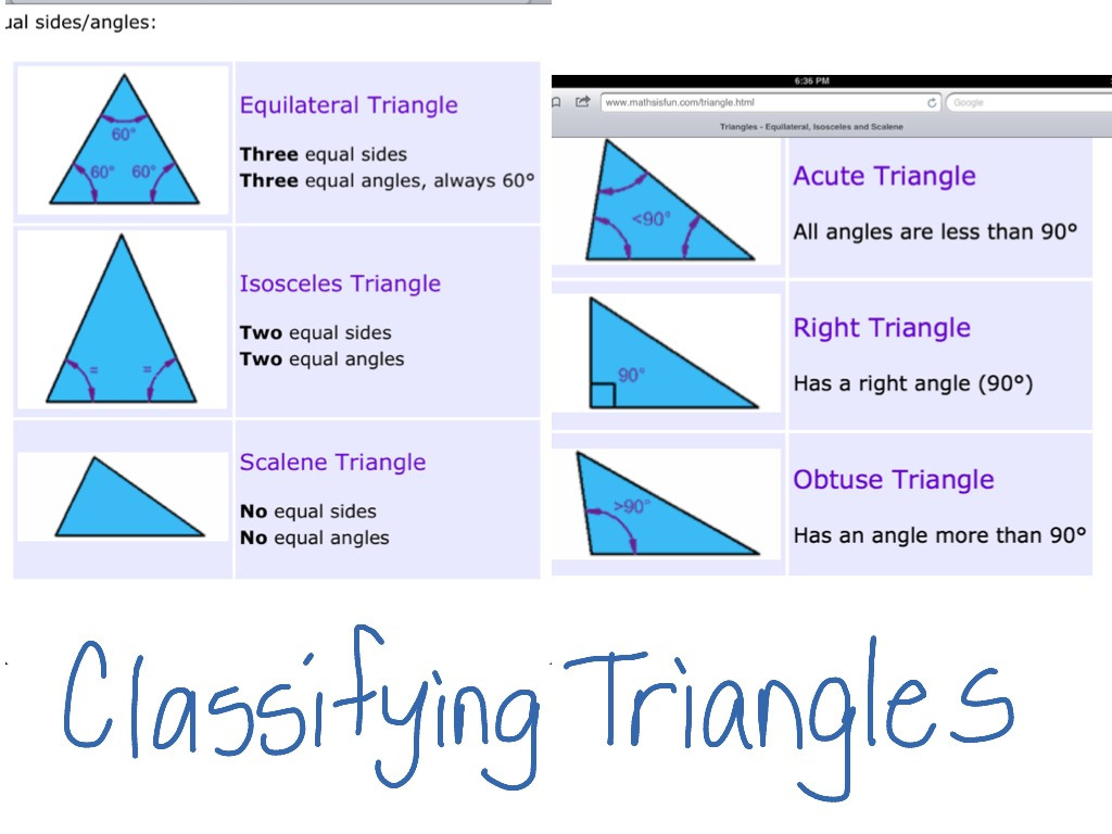 Identifying Triangles Worksheet