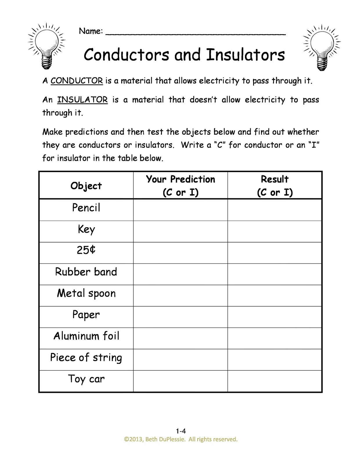 Component Electrical Circuit Worksheet Mr Murrays Website