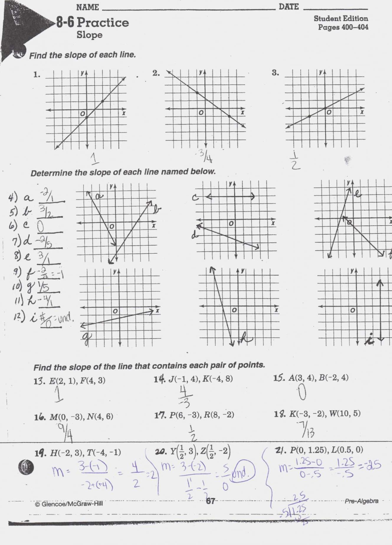Converting Point Slope Form To Intercept Maze Secondary My