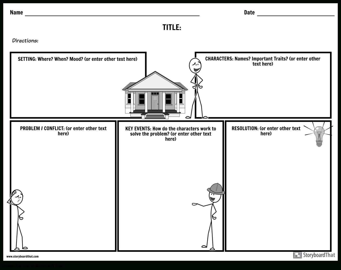 Create A Story Map Story Map Worksheets