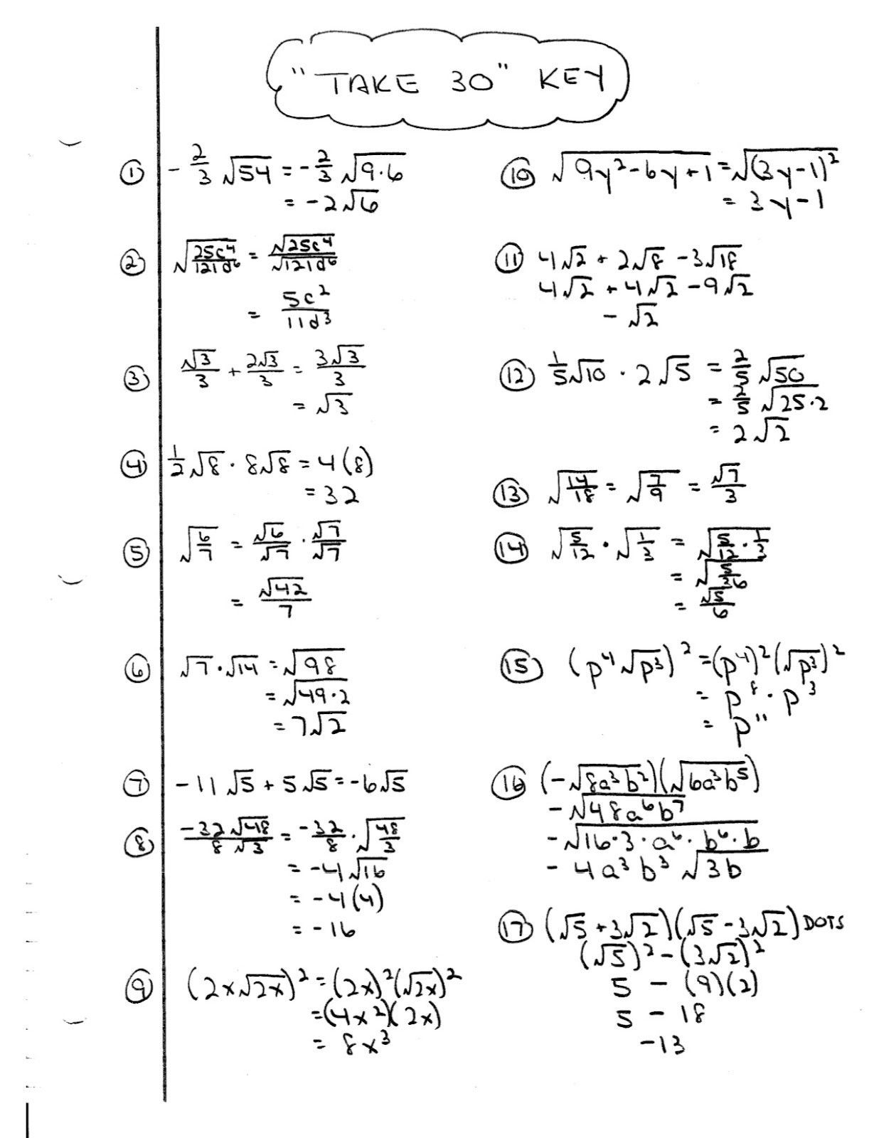 Did You Hear About Algebra Worksheet