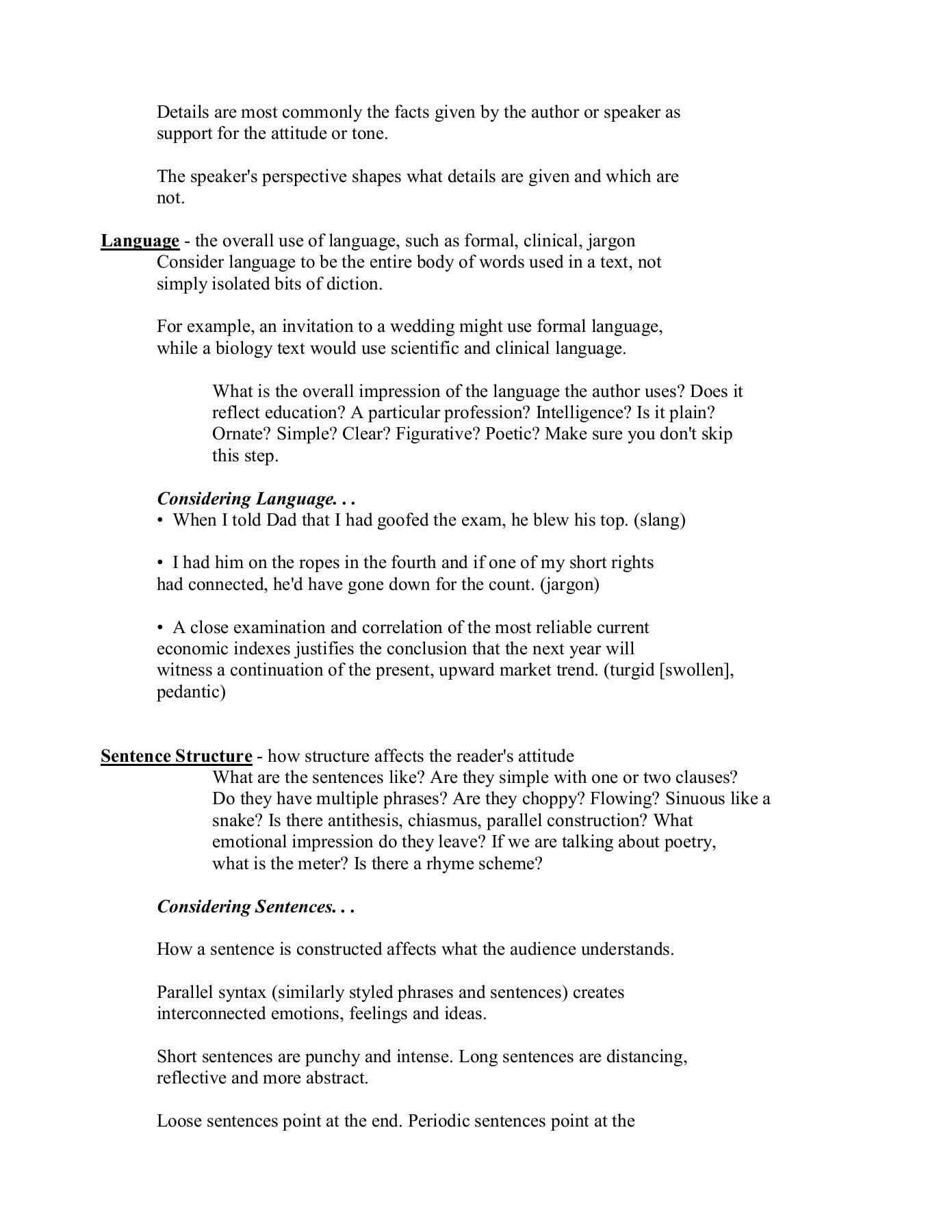 Diction Imagery Detail And Syntax Dids In Poetry Worksheet