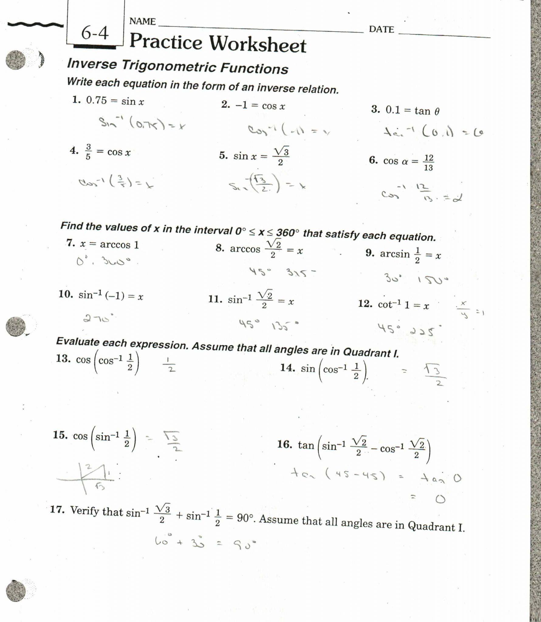 Inverse Function Word Problems Worksheet Db Excel