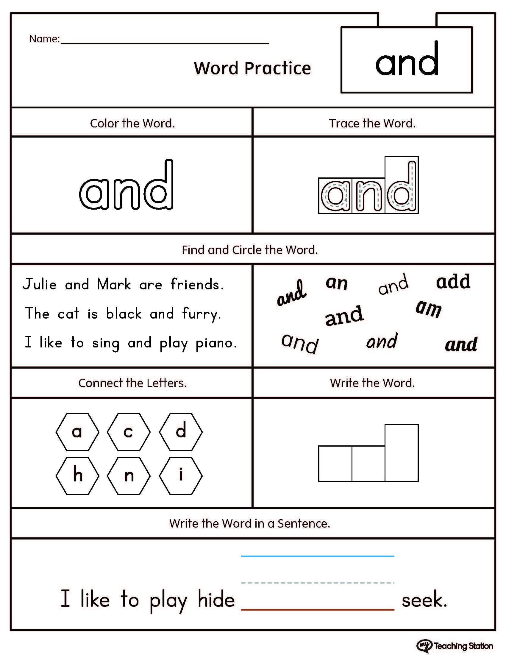 Early Childhood Reading Worksheets Myteachingstation