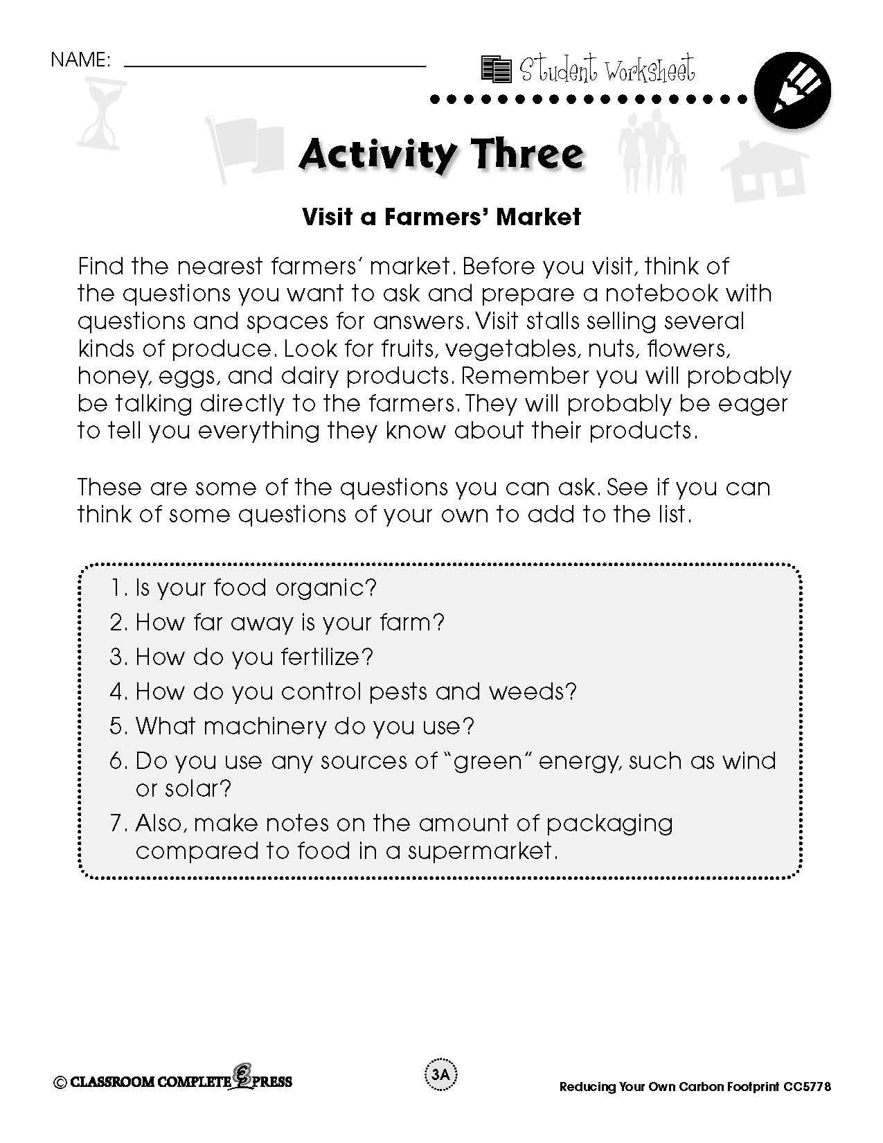 Ecological Footprint Worksheet Answers