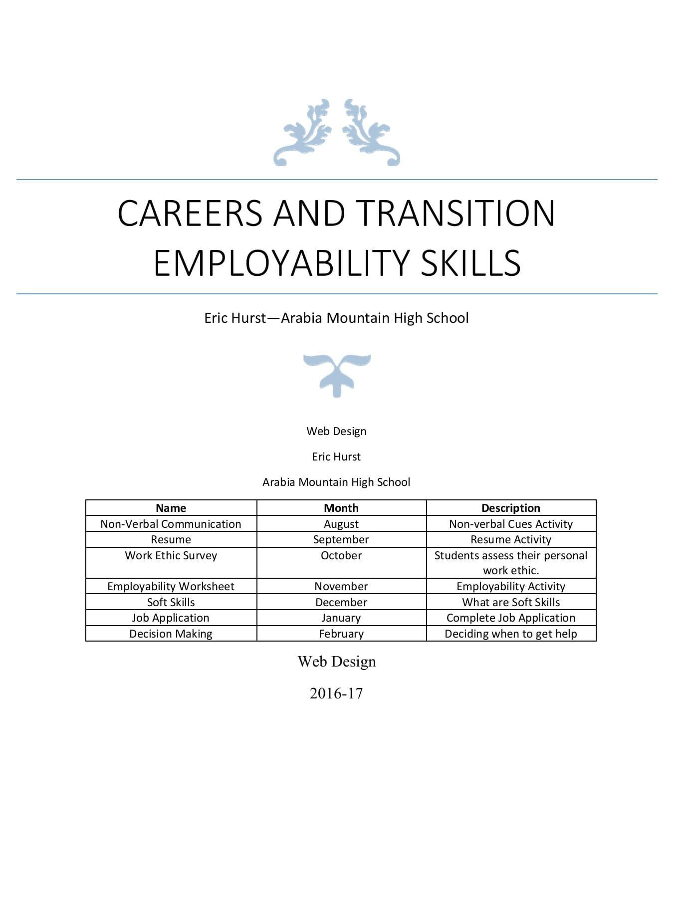 Employability Skills Web Design