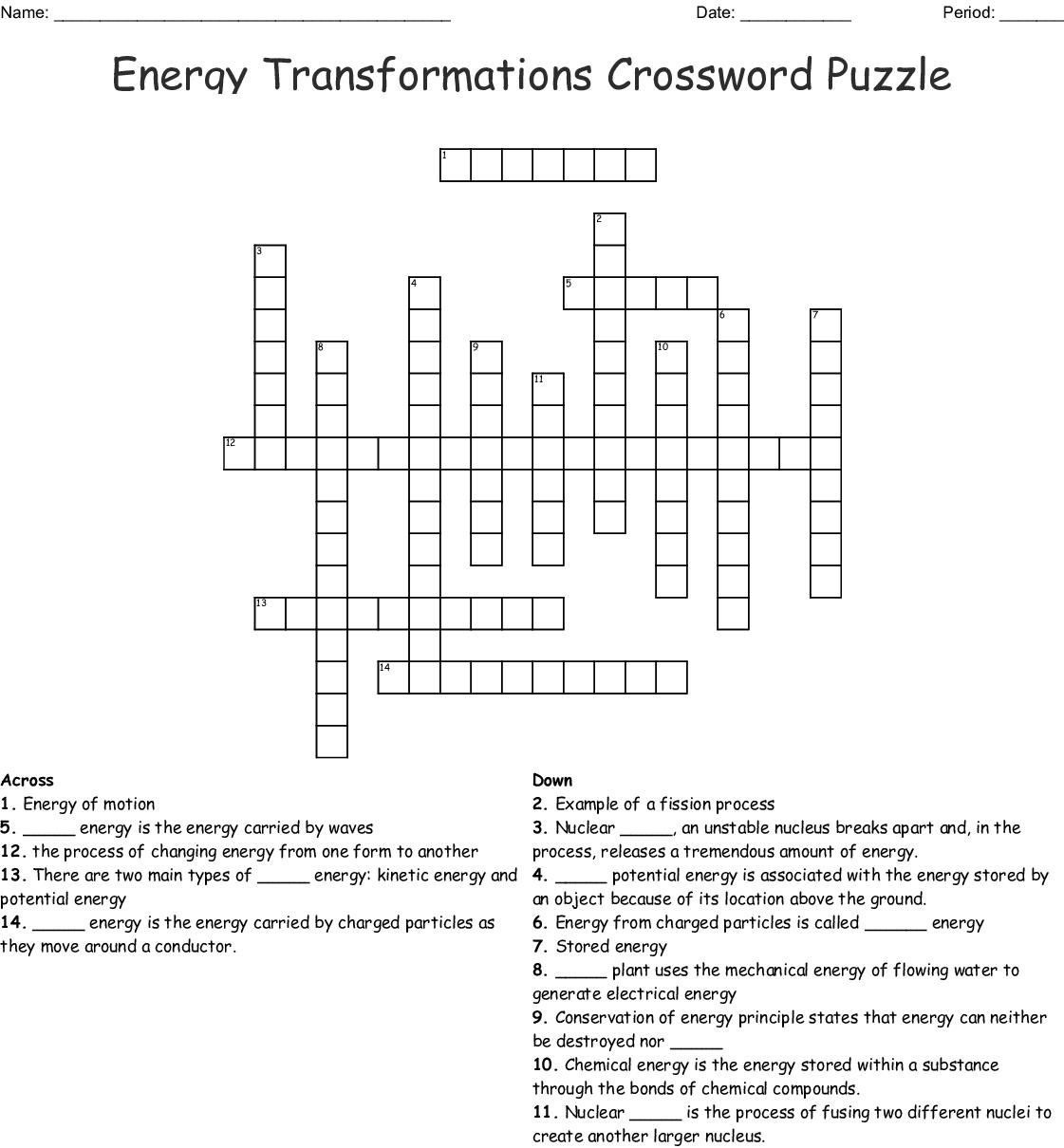 Matter And Energy Worksheet Key