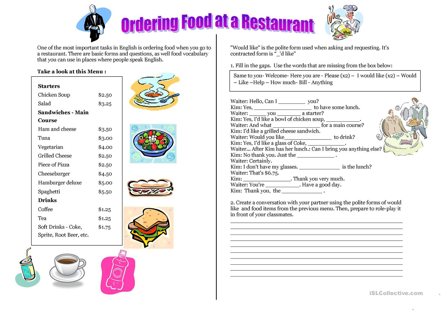 English Esl Creative Writing Worksheets Most Downloaded