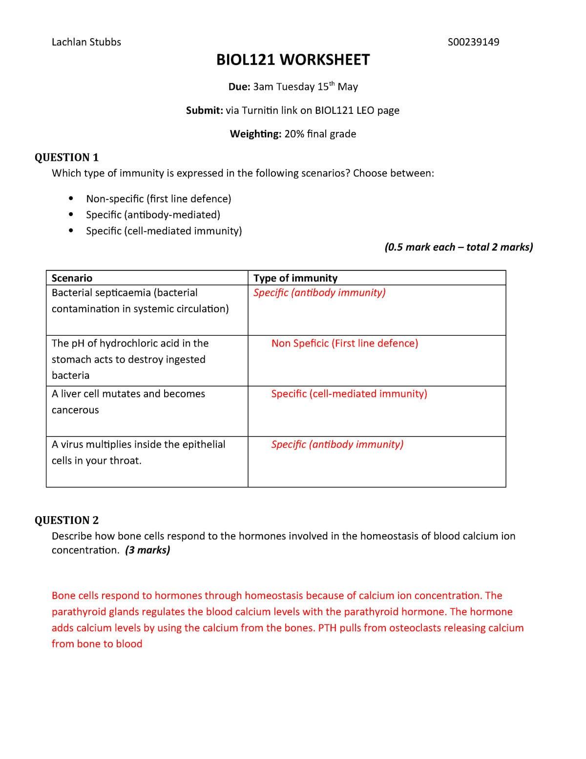 Exam Questions And Answers Biol121 Acu Studocu