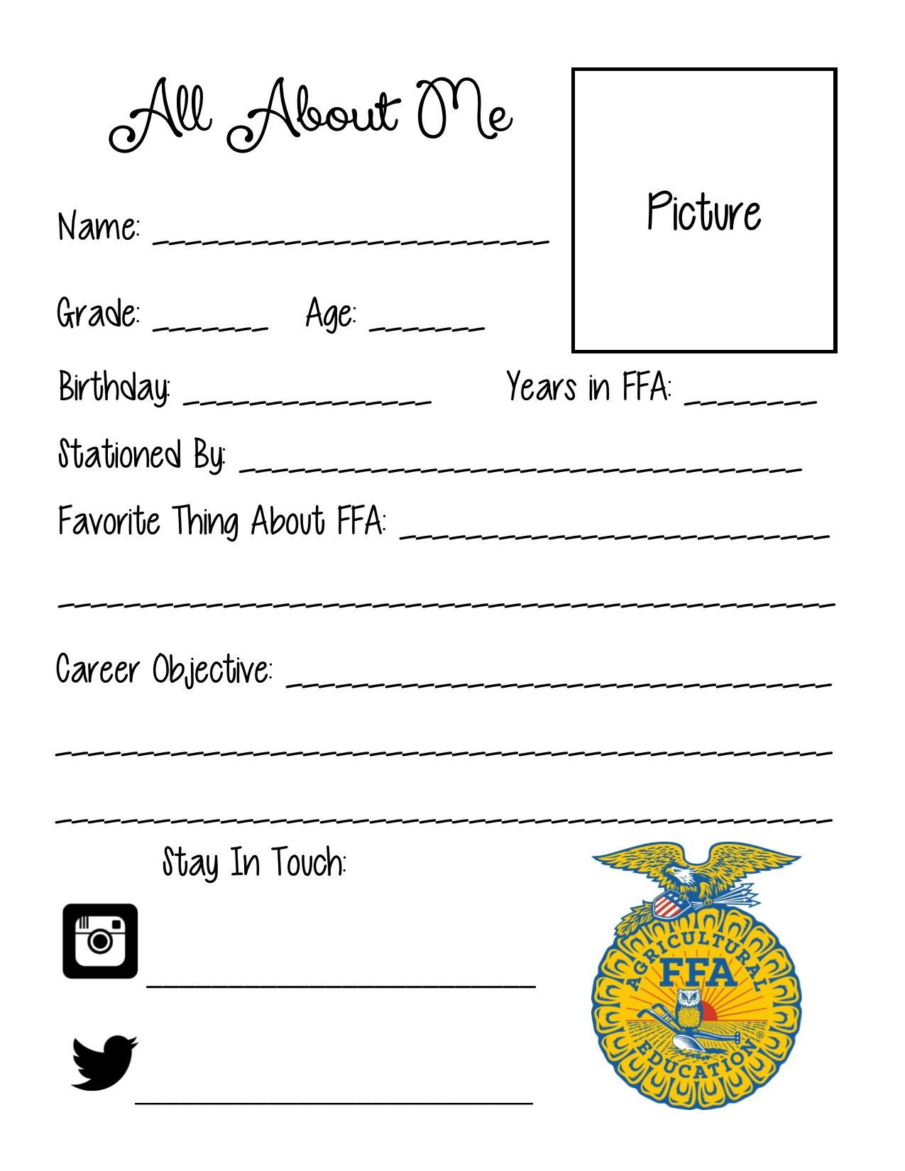 Ffa Officer Duties Worksheet