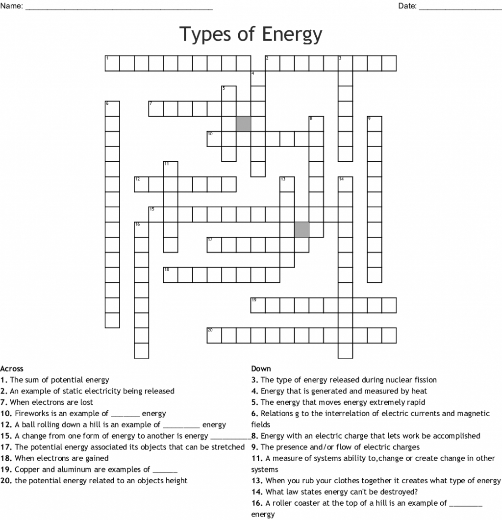 Forms Of Energy Sound Worksheets Resources Worksheet Types