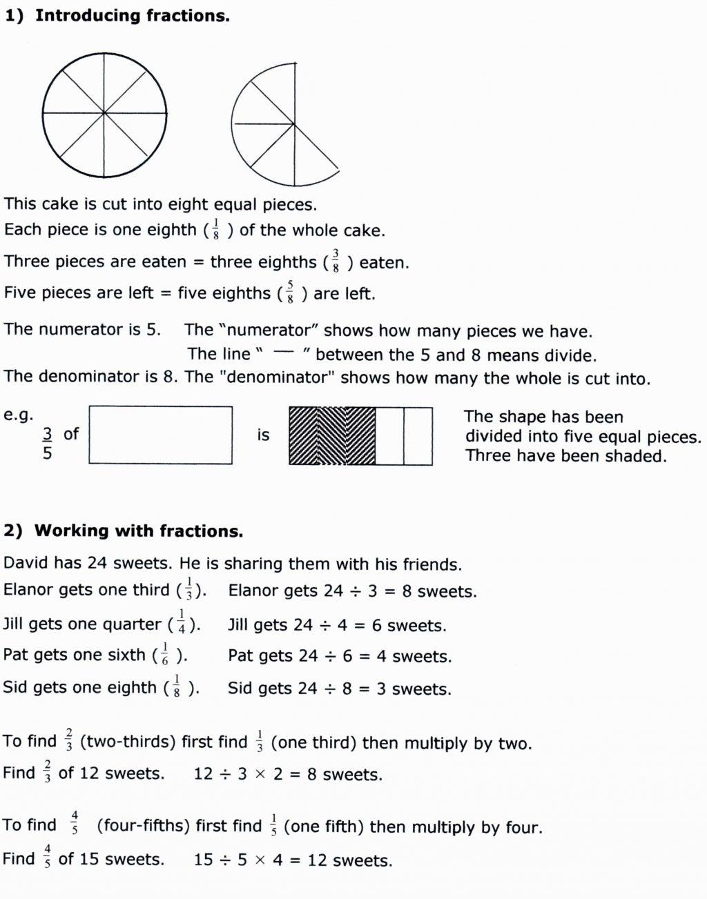 Fractions Worksheets 7th Grade Math Printable Worksheet