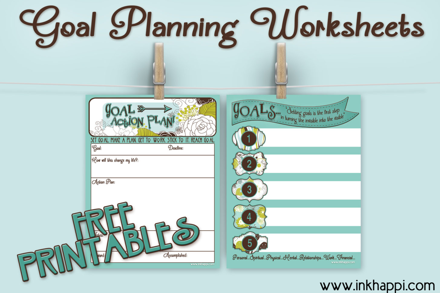 Goal Planning Worksheets With Free Printables Inkhappi