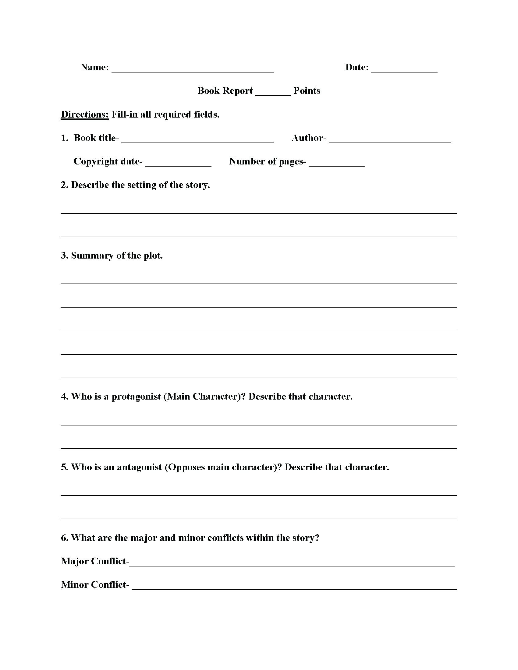 Vocabulary Worksheets Middle School