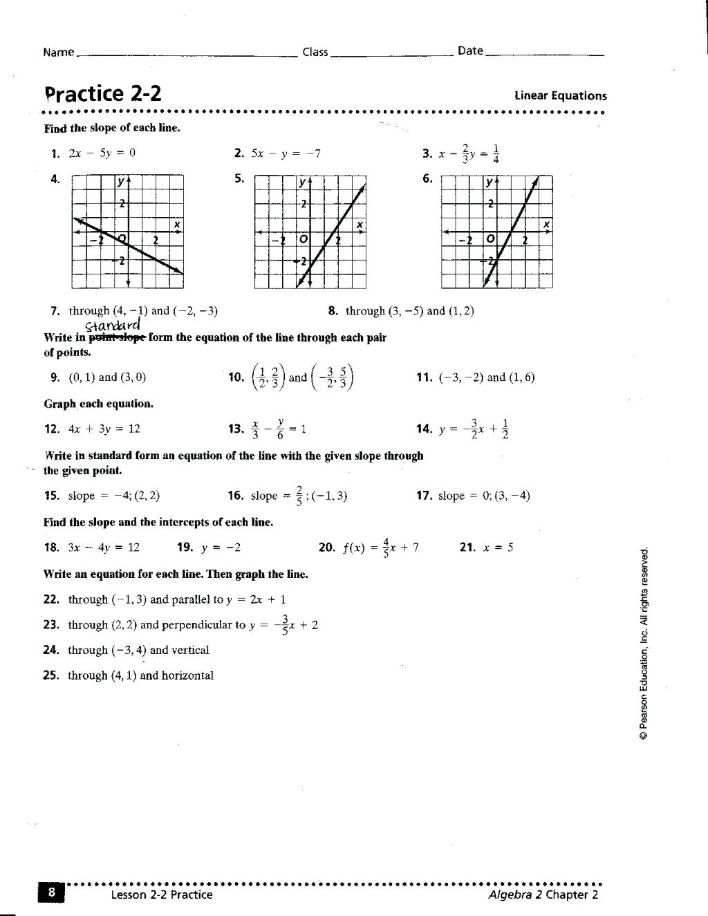Graphing Dratic Functions In Standard Form Worksheet Math