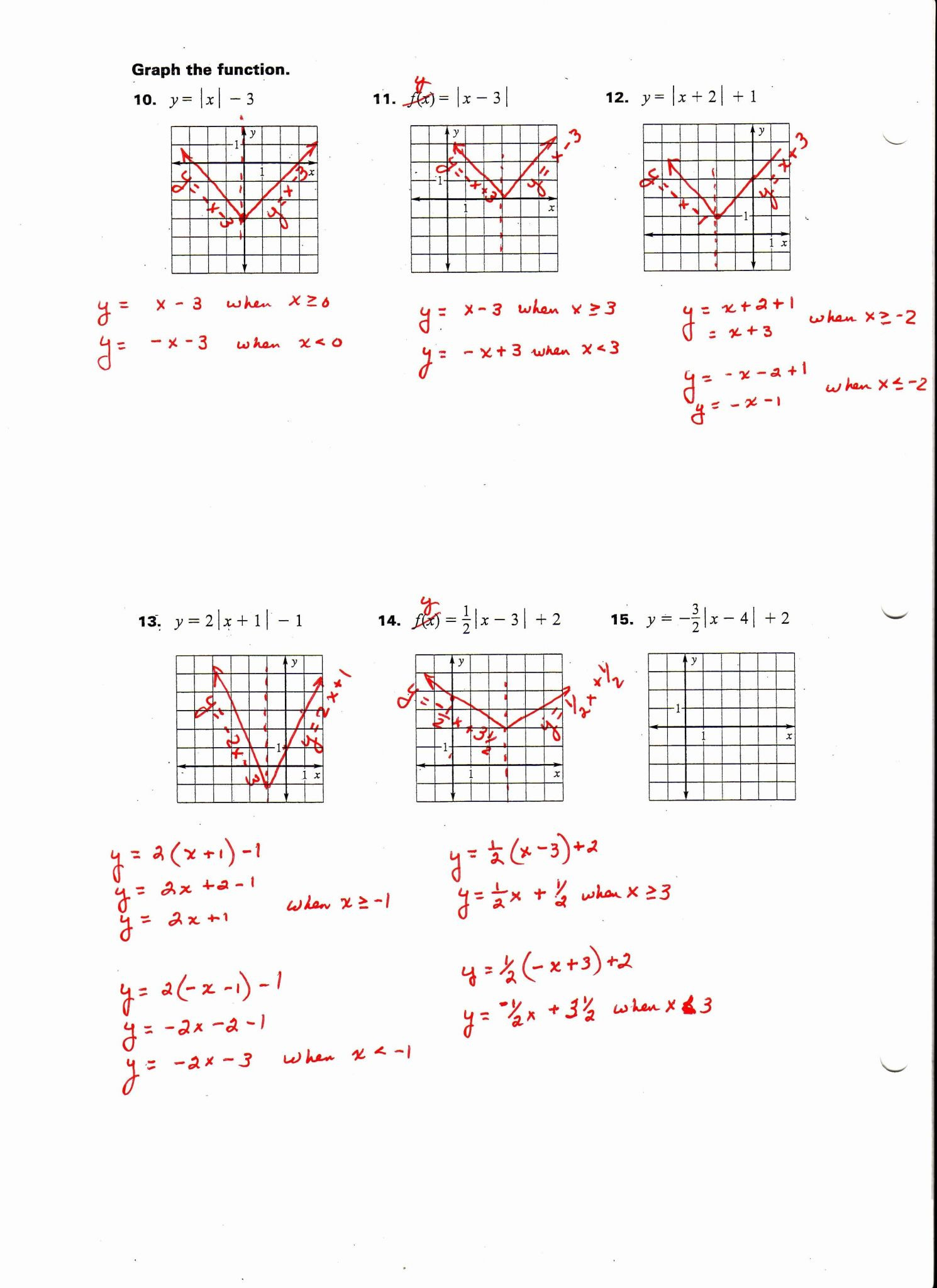 Graphing Quadratic Functions Worksheet Answers Algebra 2