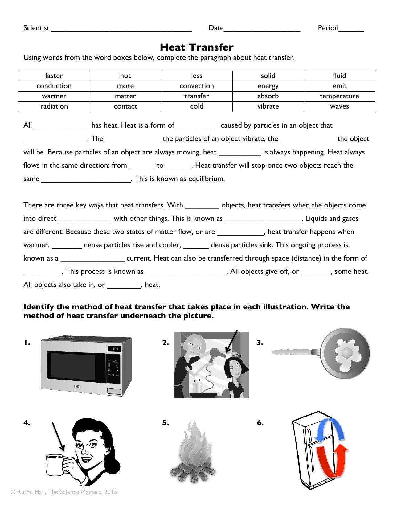 Heat Transfer Worksheet Answers