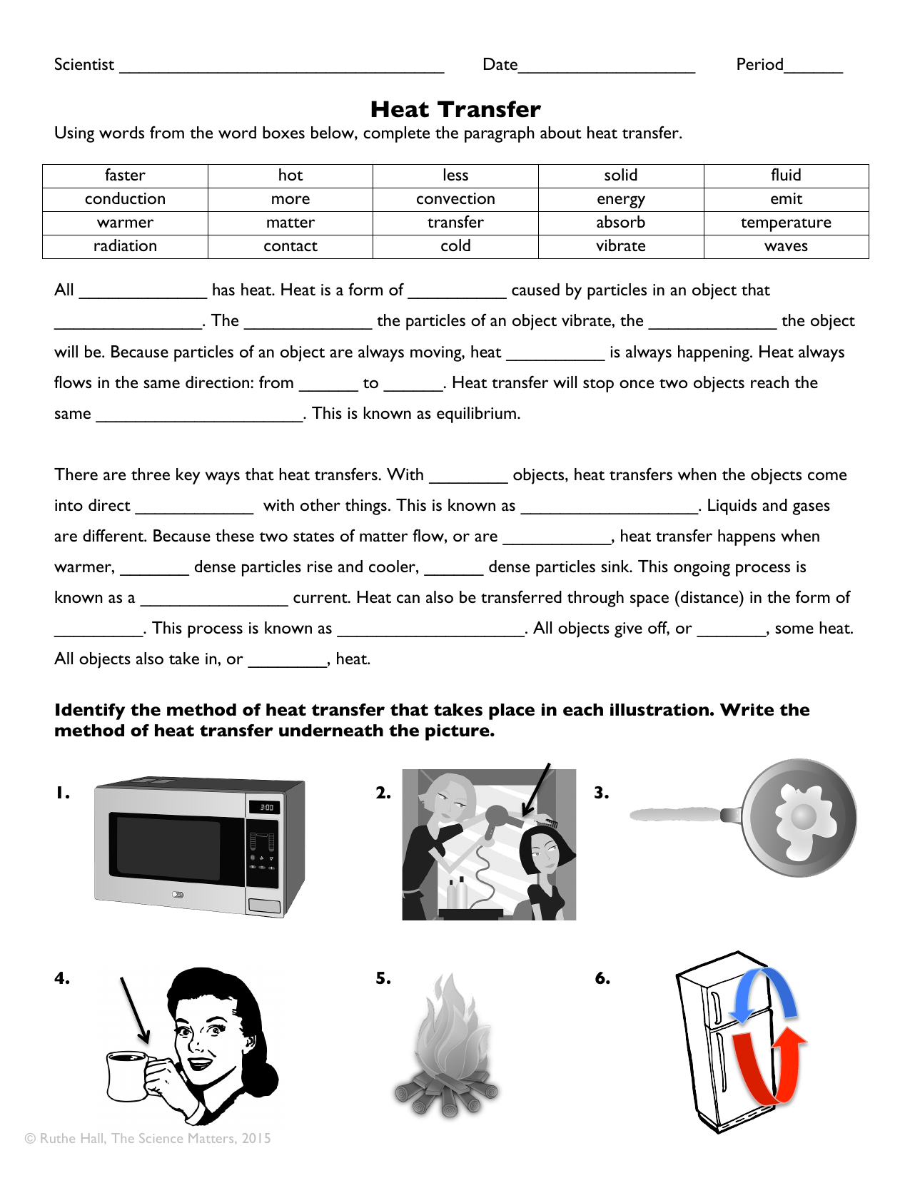 Worksheet Methods Of Heat Transfer